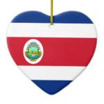 costa_rica_flag_heart_ornament-
